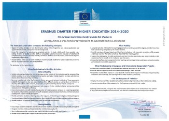 Erasmus Charter for higher education 2014-2010